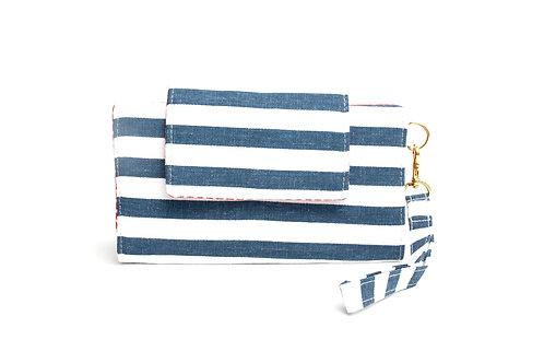 Hercules Cellphone Wallet / Navy Stripe