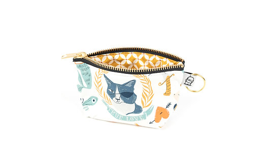 Charlie Change Purse/Pirate Cat