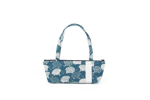 Tomboy Zippered Fabric Handbag, hedgehog 2020