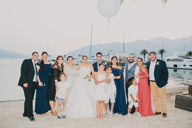 S+F with their families in Porto Montenegro