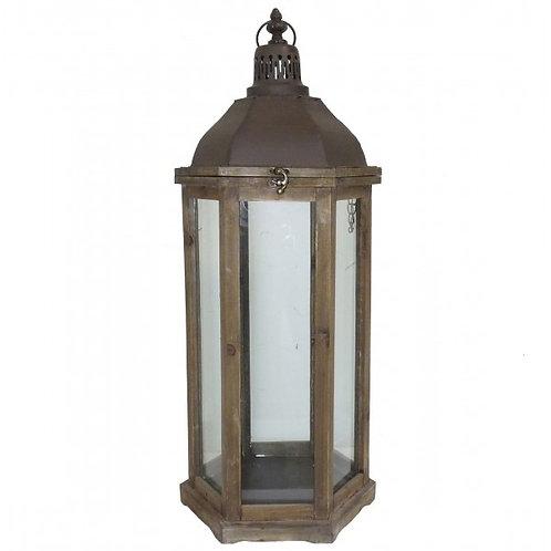 Large Hexagonal Wooden Lanterns