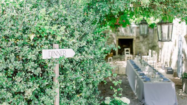 Direction signage.