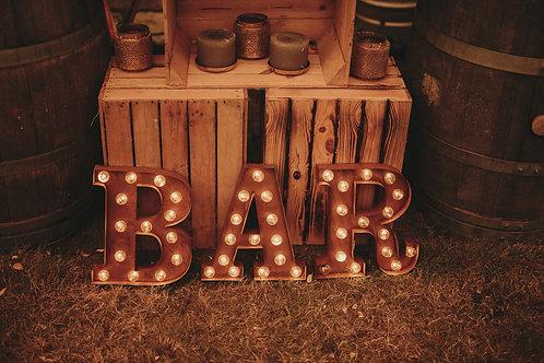 Light-Up BAR Letters