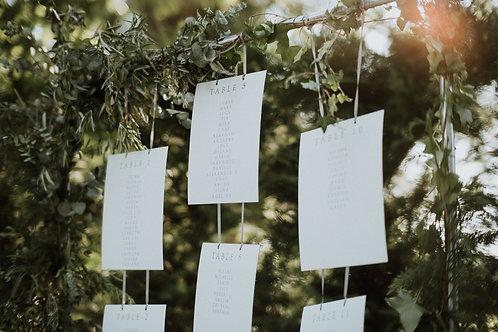 Hanging Cards Table Plan