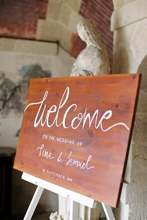 Welcome Sign (Stained Oak)