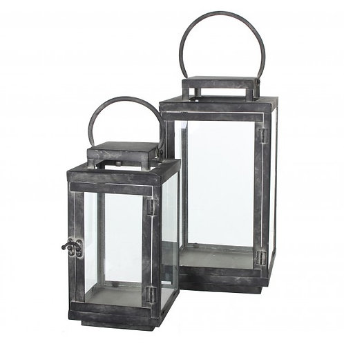 Grey Hurricane Lanterns
