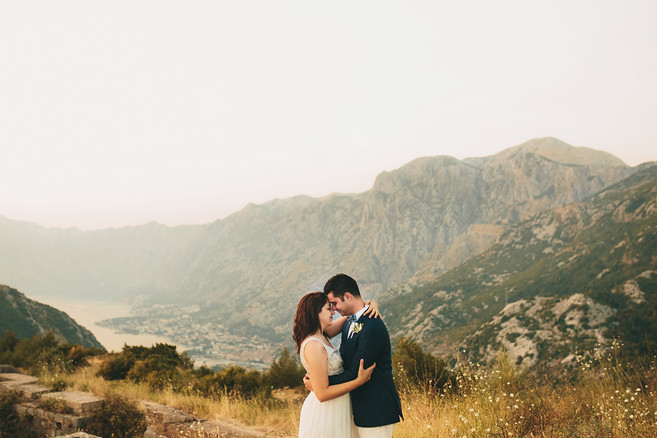 S+F in the mountains overlooking the Bay of Kotor, Montenegro