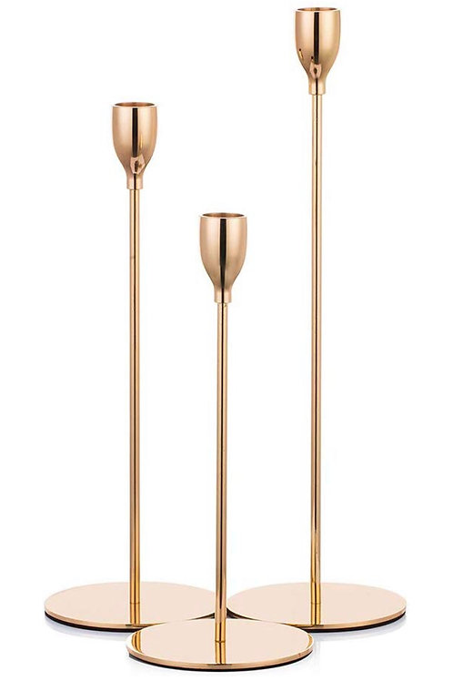 Modern Rose Gold Candlesticks