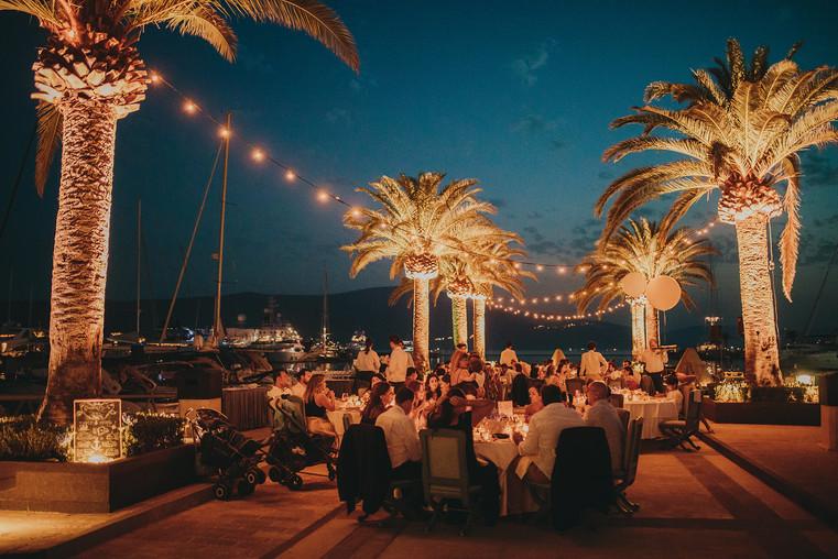 Dinner at the Marina, Porto Montenegro