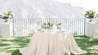 Tablescape styling in Amalfi.