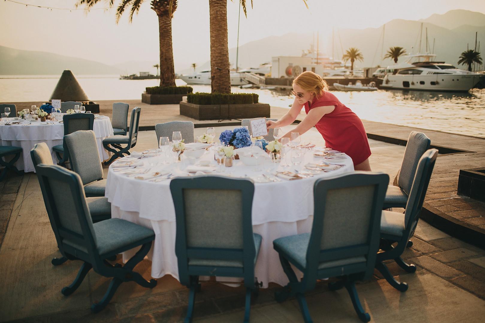 Final prep before dinner - Porto Montenegro