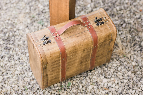 Vintage Style Wooden Suitcase