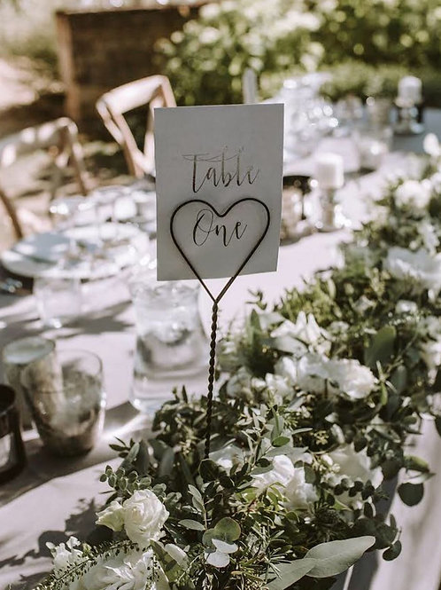 Heart-Shaped Table Name Holders