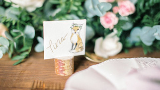 Personalised watercolor place name quote envelopes (Le Petit Prince themed wedding) - bride.