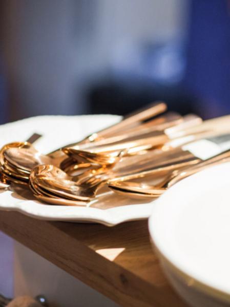 Modern Rose Gold Cutlery