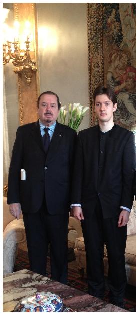 Con il Principe Domenico Pallavicino