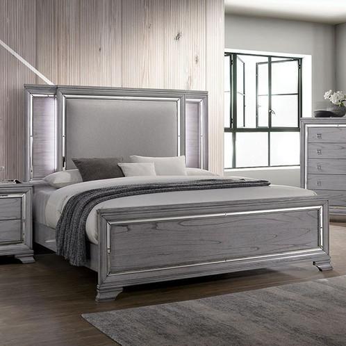 Alanis Queen Bed Night Stand Dresser Mirror