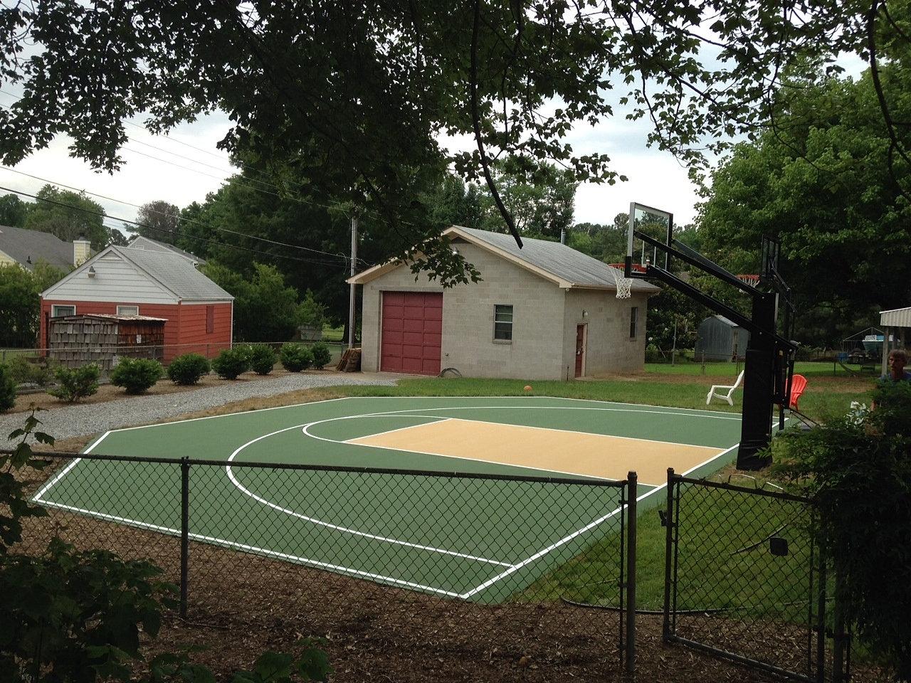 tennis court repair and resurfacing west end backyard basketball