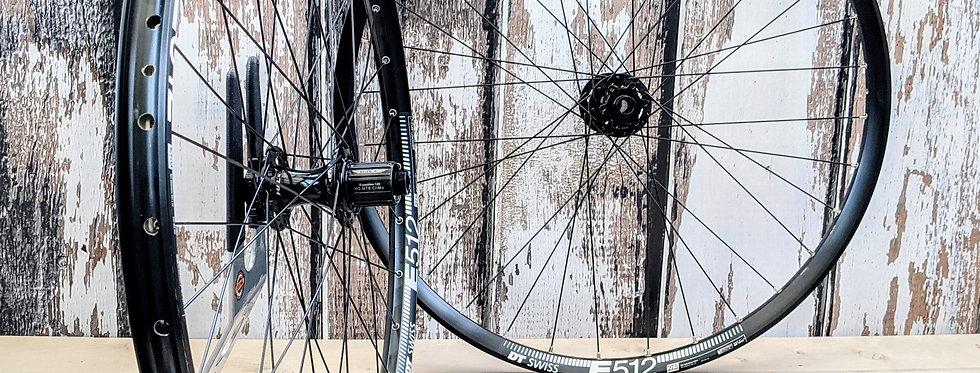 "DT Swiss E512 27.5"" Halo MT Supadrive Non-Boost handbuilt wheels"
