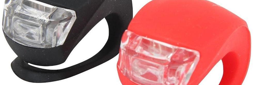ETC Essentials Mini Silicone Bike Lights *Bright LED* Commuter / Cycling