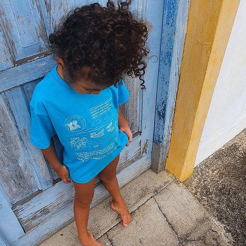 Camiseta azul jade infantil - Campeche