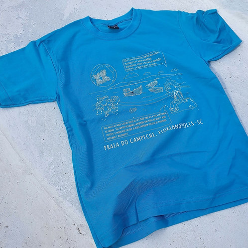 Camiseta azul jade adulto - Campeche