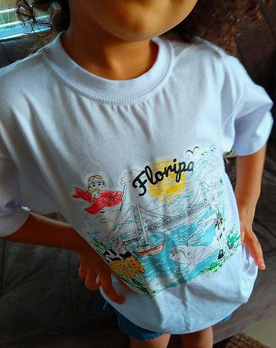 Camiseta Infantil Colorida
