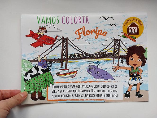 Livro de Colorir Colorindo Floripa - Físico