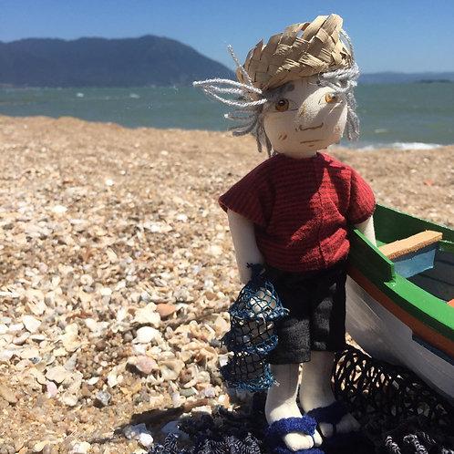 Boneco Pescador de Ostras P