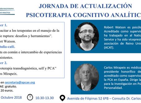 Jornada de Actualización en Psicoterapia Cognitivo Analítica