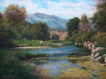 Summer on the River by Robert Bullough