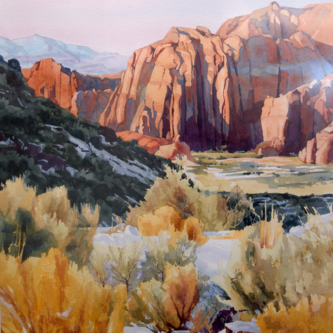 Snowfall in Snow Canyon by Wallace Lee
