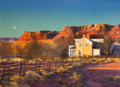 Brigham Young Home by Al Rounds