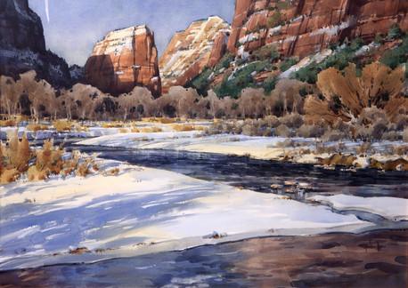 Winter Wonder of Zion by Spike Ress
