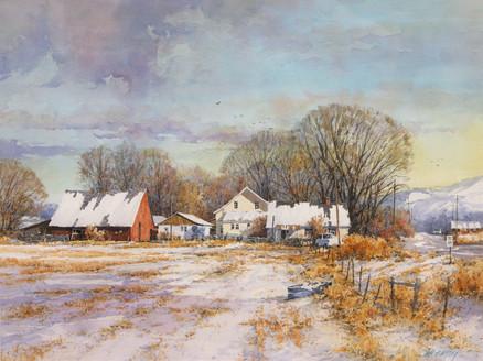 Farm in Winter by Ian Ramsay