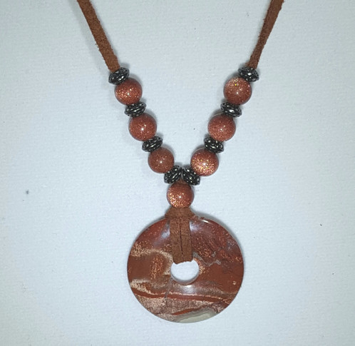 goldstone sapphire autumn set s beaded autumns crystal shimmering necklace