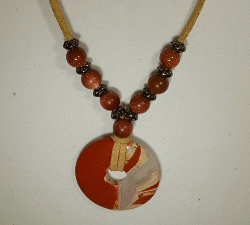 il necklace jewelry goldstone listing en sg pendant blue