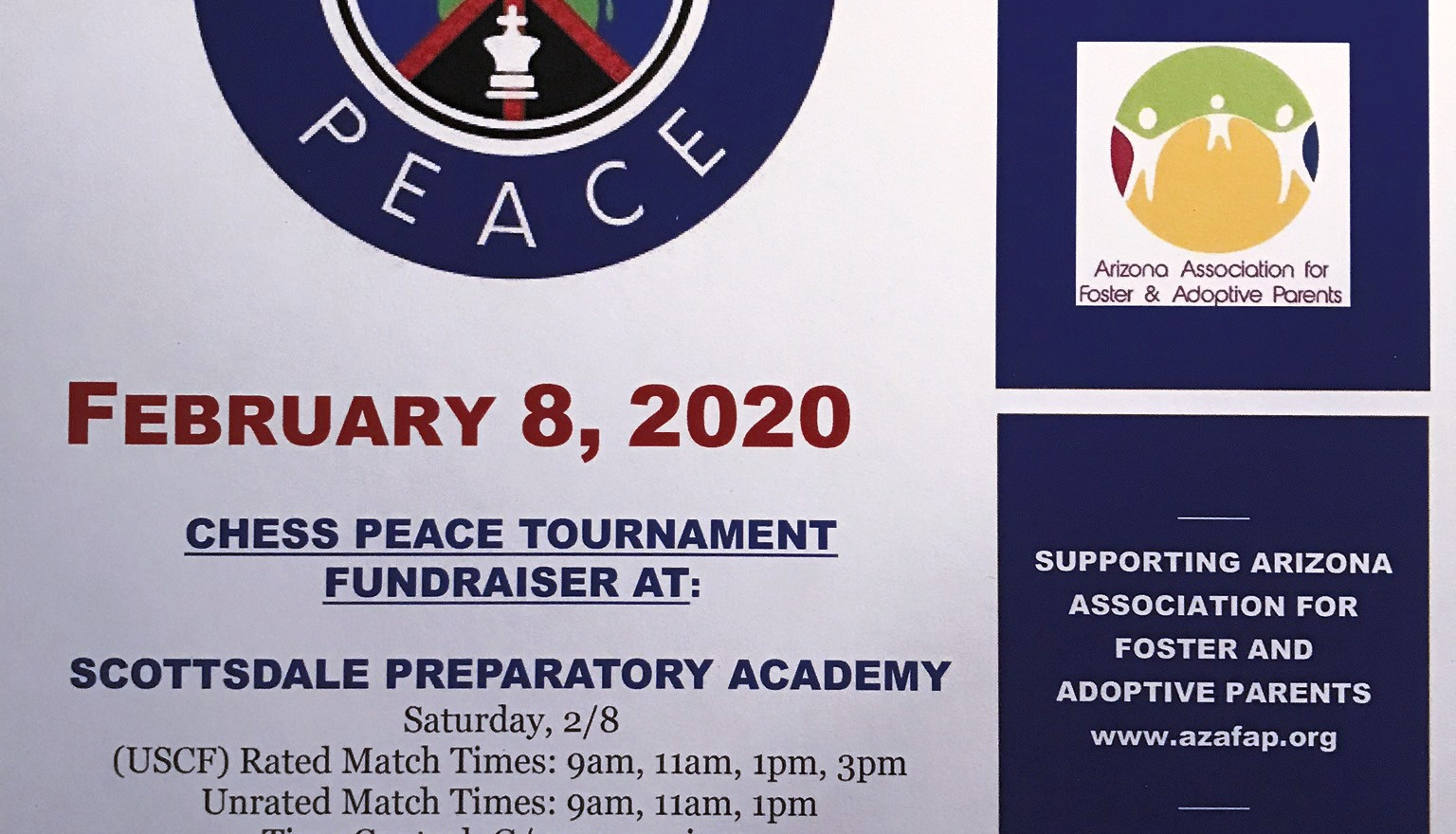 Chess Peace Tournament Flyer