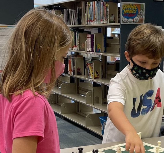 Kids Playing Intently with the New Chess Sets (September 2021)