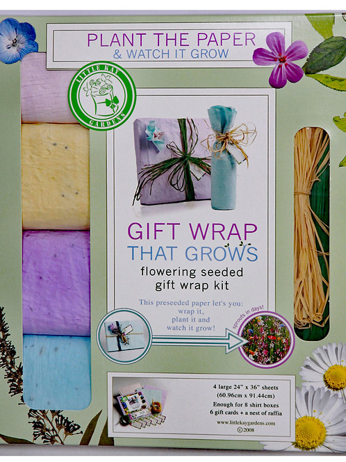 Gift Wrap That Grows and Blooms Colorful Wild Flowers