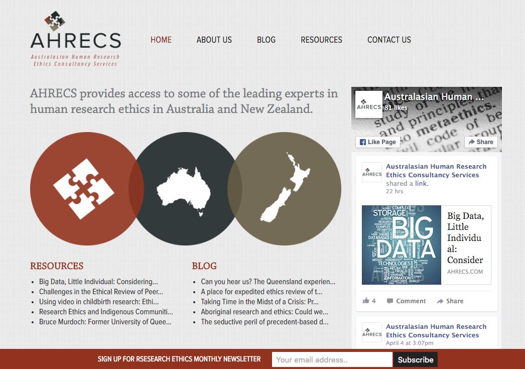 AHRECS webpage