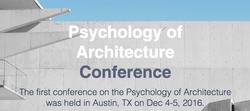 Psychology of Architecture Conference - Austin TX Dec 2016