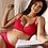 Thumbnail: Soutien-gorge triangle d'allaitement Lollypop Grenadine ☆ Cache Coeur lingerie