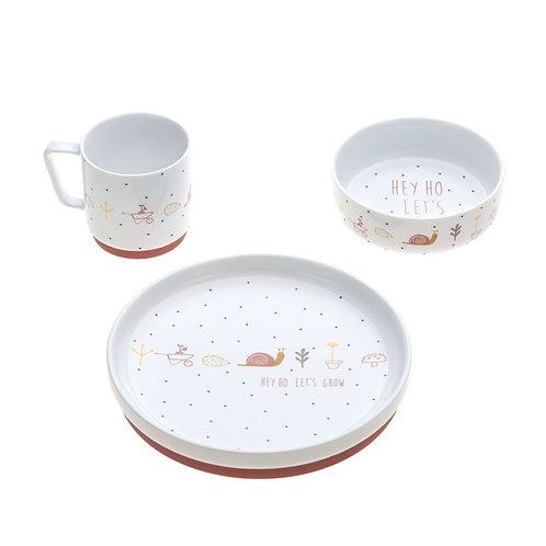 """Coffret repas en porcelaine """"Escargot"""" ☆ LASSIG"""
