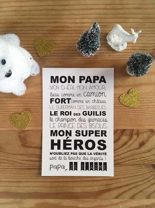 """Carte """"Mon Papa"""" ☆ Suite créative"""