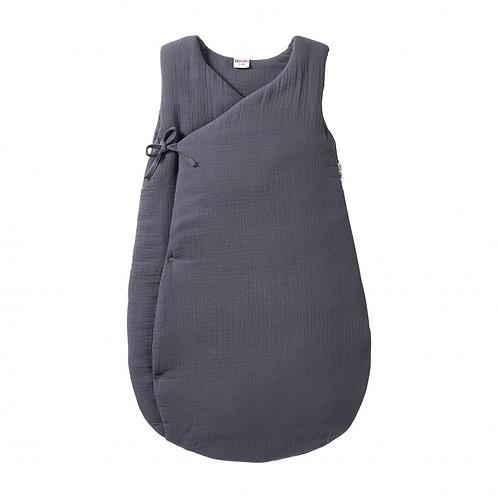 Gigoteuse forme kimono gaze de coton Gris Foncé 0/6 mois ☆ BBANDCO