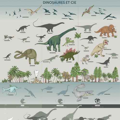 Dinosaures LES JOLIES PLANCHES