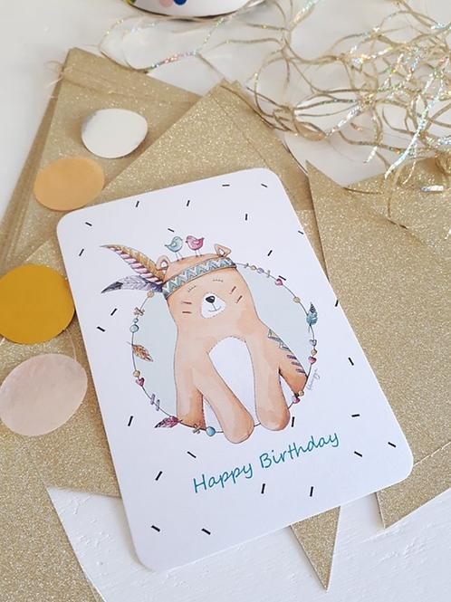 Carte que du bonheur happy birthday ☆ Lulu au crayon