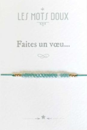 """Bracelet """"Faites un voeu"""" ☆ Les Mots doux"""