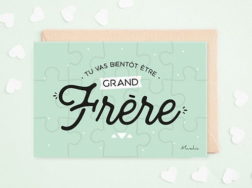 "Puzzle d'annonce ""Grand frère"" ☆ Manahia"